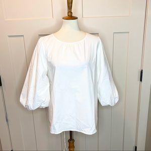 NWT Ann Taylor Puffy Sleeve Peasant Blouse medium
